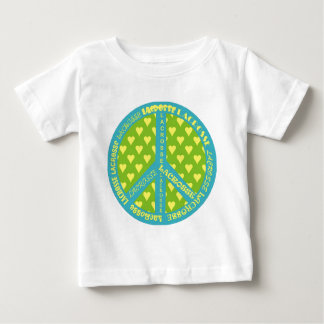 Peace Sign with Lacrosse in Frame Baby T-Shirt