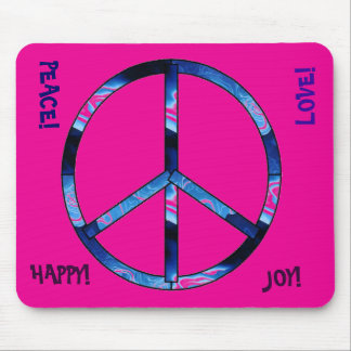 Peace Sign With Pink! Mouse Pad