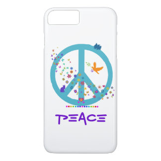 Peace Sign with Rainbow Colors iPhone 7 Plus Case