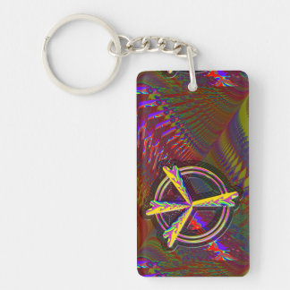 Peace Sign with room for words... slogan... Single-Sided Rectangular Acrylic Keychain