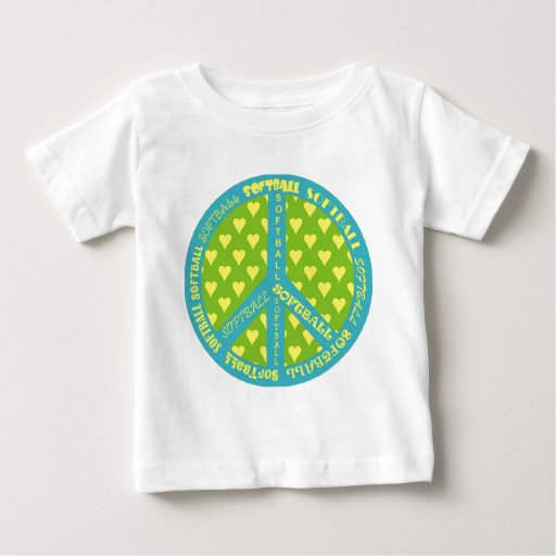 Peace Sign with Softball in Frame T-shirt