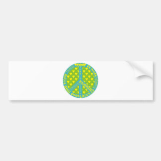 Peace Sign with Tennis in Frame Bumper Sticker