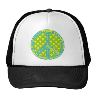 Peace Sign with Tennis in Frame Trucker Hat