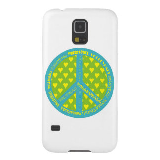 Peace Sign with Volleyball in Frame Case For Galaxy S5