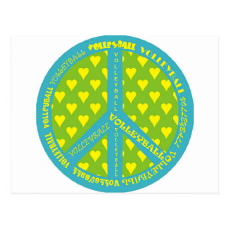 Peace Sign with Volleyball in Frame Postcard