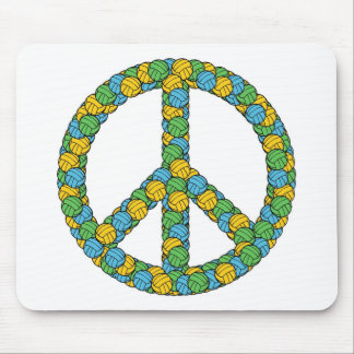 PEACE SIGN WITH VOLLEYBALLS MOUSE PAD