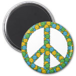 PEACE SIGN WITH VOLLEYBALLS REFRIGERATOR MAGNETS