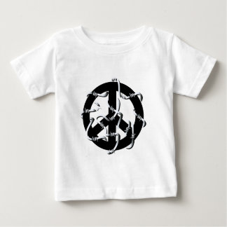 Peace sign with wire baby T-Shirt