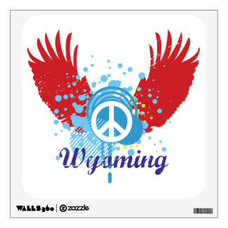 Peace Sign - Wyoming Wall Decal