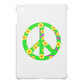 Peace Sign Yellow Cherry Blossom Case For The iPad Mini