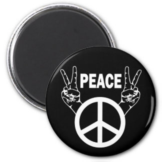 PEACE SIGNS 2 INCH ROUND MAGNET
