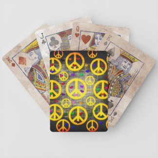 Peace Signs and Hearts Bicycle Playing Cards