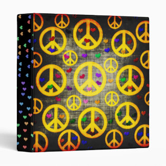 Peace Signs and Hearts Binder