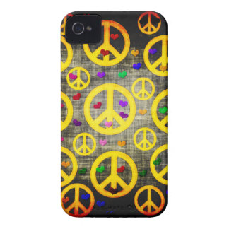 Peace Signs and Hearts iPhone 4 Cover