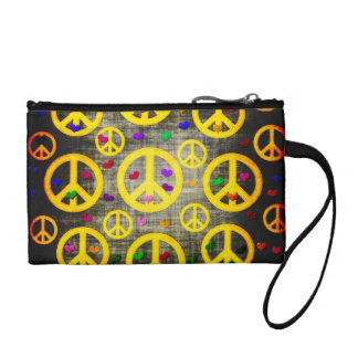 Peace Signs and Hearts Coin Purse