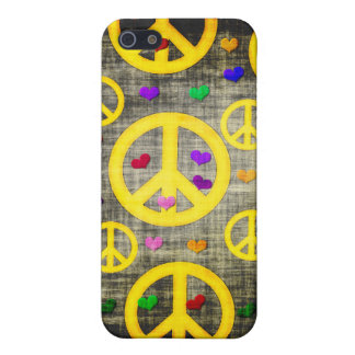 Peace Signs and Hearts iPhone 5 Covers