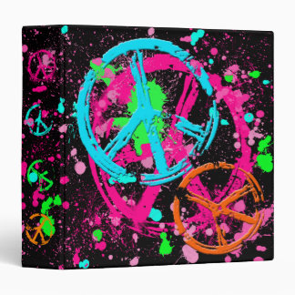 PEACE SIGNS AND PAINT SPLATTER BINDER