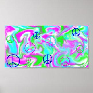 peace signs and tye dye