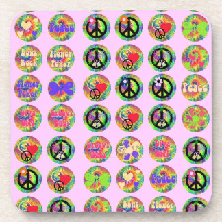 Peace Signs Beverage Coaster