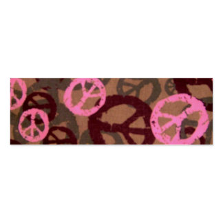 Peace Signs Book Mark Marker Double-Sided Mini Business Cards (Pack Of 20)