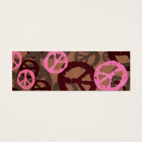 Peace Signs Book Mark Marker Mini Business Card