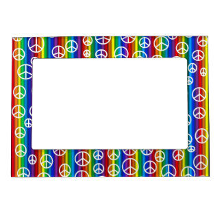 Peace Signs Bubbles Magnetic Frame