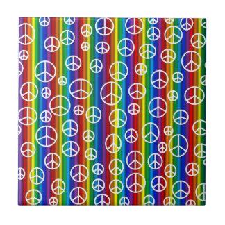 Peace Signs Bubbles Tile