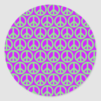 Peace Signs Classic Round Sticker