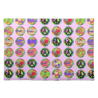 Peace Signs Cloth Place Mat
