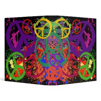 PEACE SIGNS COLLAGE binder