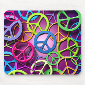 Peace Signs Collage Mouse Pads