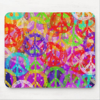 Peace Signs Collage Mousepad