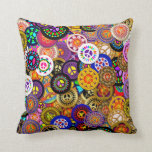 Peace Signs Collage Throw Pillow