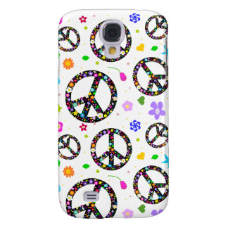 Peace Signs & Flowers Samsung Galaxy S4 Cover
