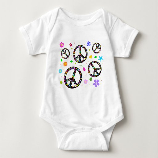 Peace Signs & Flowers Infant Creeper