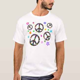 Peace Signs & Flowers T-Shirt