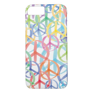 Peace Signs in Watercolor iPhone 7 Case