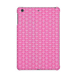 Peace Signs on Bright Pink iPad Mini Retina Cases
