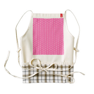 Peace Signs on Bright Pink Zazzle HEART Apron