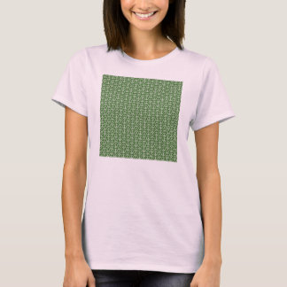 Peace Signs on Holiday Pine Green T-Shirt