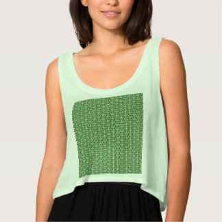Peace Signs on Holiday Pine Green Tank Top