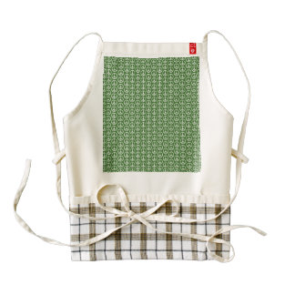 Peace Signs on Holiday Pine Green Zazzle HEART Apron