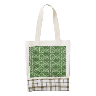 Peace Signs on Holiday Pine Green Zazzle HEART Tote Bag