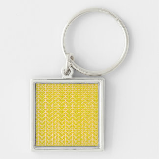 Peace Signs on Sunny Yellow Keychain