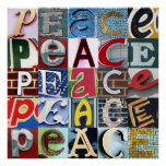 """PEACE Signs"" Poster"