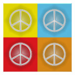 PEACE SIGNS PRINT