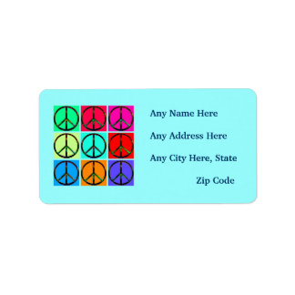Peace Signs Return Address Labels