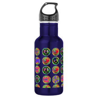 Peace Signs Stainless Steel Water Bottle