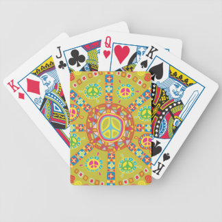 Peace Signs, Symbols Bicycle Playing Cards