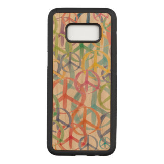 Peace Signs Symbols Carved Samsung Galaxy S8 Case